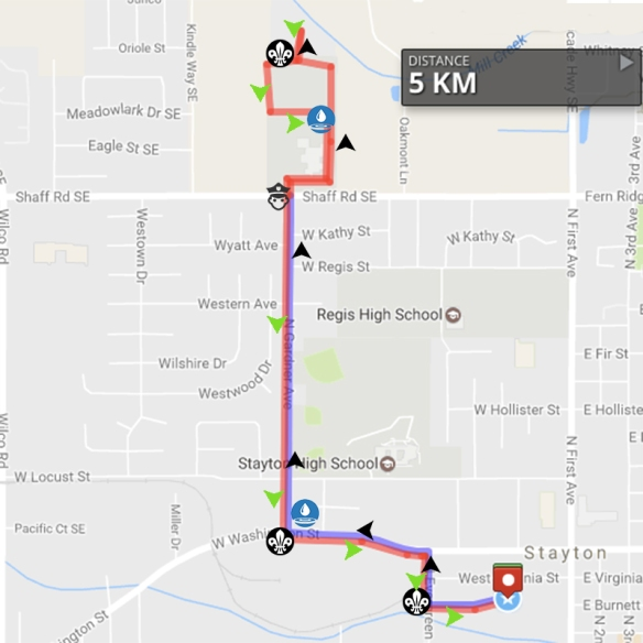 map of stayton oregon 5k Trail Run Stayton Fun Run map of stayton oregon